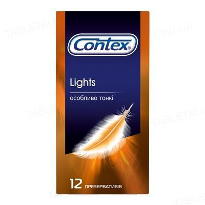 Презервативи латексні Contex Lights особливо тонкі, 12 штук