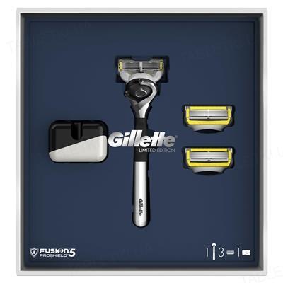 Набор Бритва Gillette Fusion5 ProShield + 3 Кассеты + Подставка