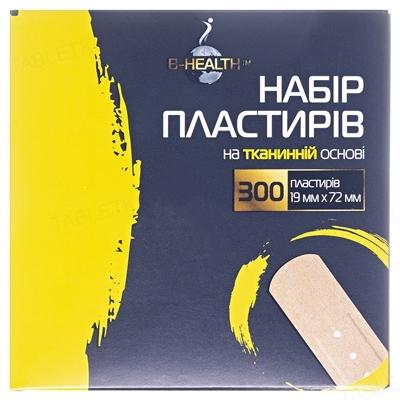 Набор пластырей B-Heаlth на тканевой основе, размером 19 мм х 72 мм, 300 штук