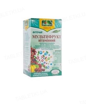 Фиточай Dr.Fito Мультифрукт витаминный по 1.5 г №20 в фил.-пак.