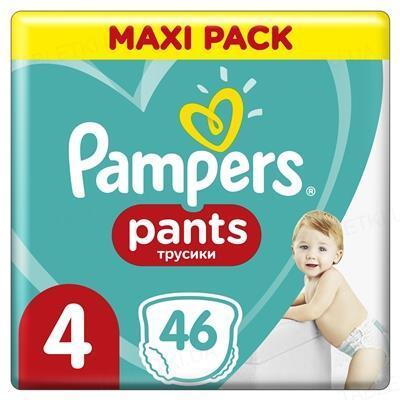 Подгузники-трусики детские Pampers Pants размер 4, 9-15 кг, 46 штук