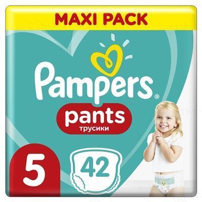 Подгузники-трусики детские Pampers Pants размер 5, 12-17 кг, 42 штуки