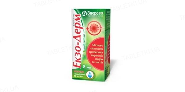 Экзо-дерм раствор н/к 10 мг/мл по 8 мл во флак.