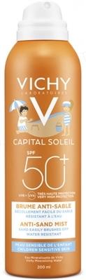 Аэрозоль солнцезащитный Vichy Ideal Soleil детский, с технологией «АНТИ-ПЕСОК» SPF50+, 200 мл