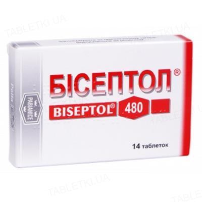 Бисептол таблетки по 400 мг/80 мг №14