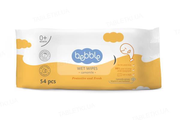 Салфетки влажные Bebble с экстрактом ромашки детские, 54 штуки