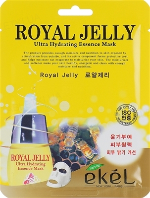 Маска тканевая для лица Ekel Royal Jelly с экстрактом пчелиного маточного молочка, 25 мл