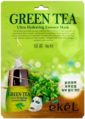 Маска тканинна для обличчя Ekel з зеленим чаєм для жирної шкіри, 25 мл