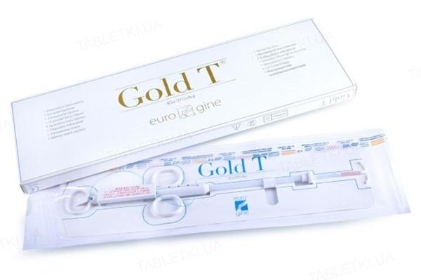 Спіраль внутрішньоматкова Eurogine Gold T Normal Cu375 + Au (мідь + золото), 1 штука