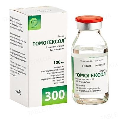 Томогексол раствор д/ин. 300 мг йода/мл по 100 мл №1 во флак.