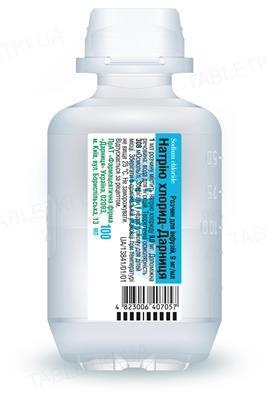 Натрия хлорид-Дарница раствор д/инф. 9 мг/мл по 100 мл во флак.