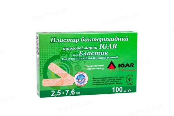 Пластырь бактерицидный IGAR тип Эластик на эластичной полимерной основе 2,5 см х 7,6 см, 1 штука