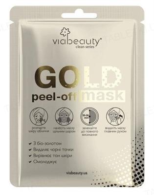 Маска-пленка Via Beauty GOLD Mask с био-золотом, 10 мл