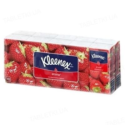 Платочки бумажные Kleenex с ароматом клубники №10х10