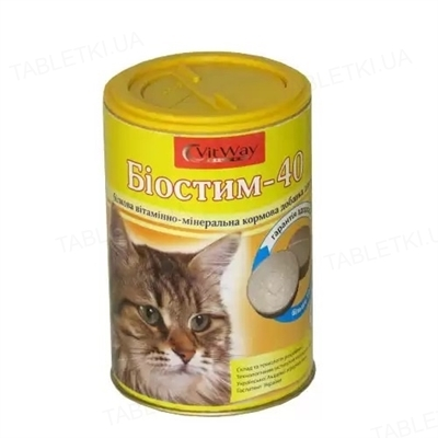 Биостим-40 витамины для кошек, 300 таблеток