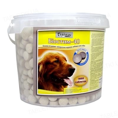 Биостим-40 витамины для собак, 1000 таблеток