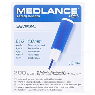 Ланцеты Medlance Plus Universal автоматические, стерильные G21 (синий), 200 штук