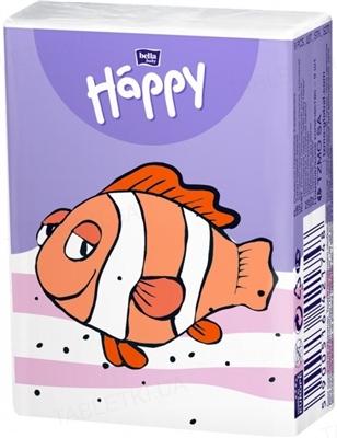 Платки бумажные носовые гигиенические Bella Baby Happy трехслойные, 9 штук