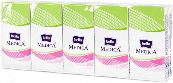 Платки бумажные носовые гигиенические Bella Medica трехслойные, 9 x10 штук