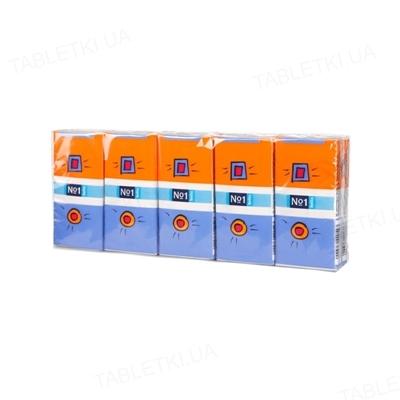 Платки бумажные носовые гигиенические Bella №1 трехслойные, 10х10 штук