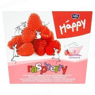 Хустинки паперові унiверсальні Bella Baby Happy двошарові малина, 40+40 штук