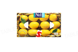 Платки бумажные универсальные Bella №1 двухслойные с ароматом лимона, 100 штук