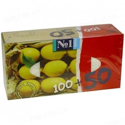 Платки бумажные универсальные Bella №1 двухслойные с ароматом лимона, 150 штук