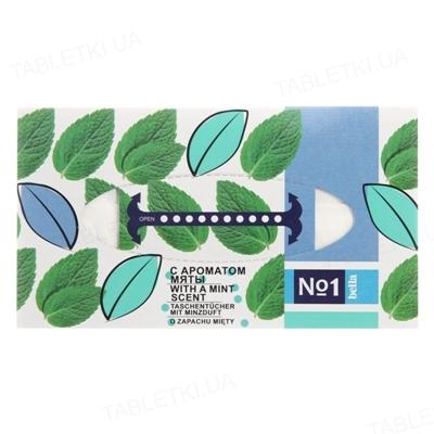 Платки бумажные универсальные Bella №1 двухслойные с ароматом мяты, 150 штук