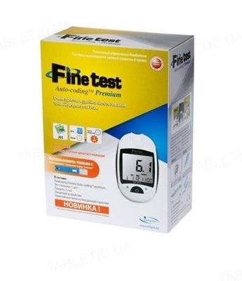 Глюкометр Fine Test Auto-Coding Premium, стартовий комплект (50 тест-смужок, 25 ланцетів)