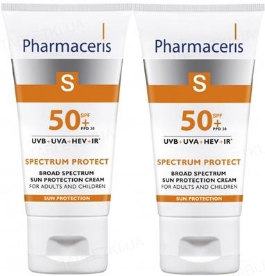 Набор Pharmaceris S 14048 солнцезащитный крем широкого спектра действия SPF50+, 2 штуки по 50 мл