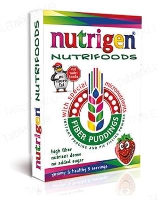 Нутрижен Нутрифудс пудинги быстрого приготовления со вкусом клубники порошок №5 в пак.
