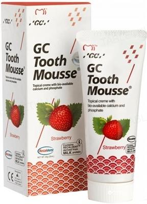 Крем стоматологический GC Tooth Mousse для восстановления эмали зубов, Клубника, 35 мл