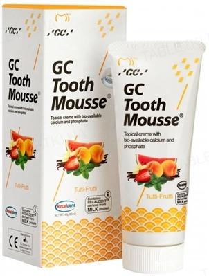 Крем стоматологический GC Tooth Mousse для восстановления эмали зубов, Тутти-Фрутти, 35 мл
