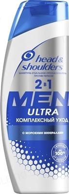 Шампунь Head & Shoulders Ultra 2-в-1 Комплексный уход для мужчин, 400 мл