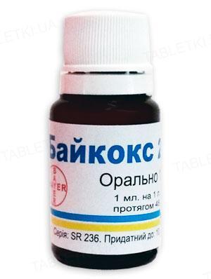 Байкокс 2,5% (ДЛЯ ТВАРИН) суспензія для перорального застосування, 10 мл
