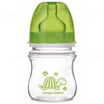 """Бутылочка антиколиковая Canpol Babies EasyStart """"Цветные зверушки"""" 35/205 с широким отверстием, 120 мл"""