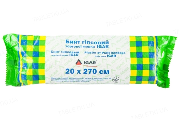 Бинт гипсовый IGAR 20 х 270 см