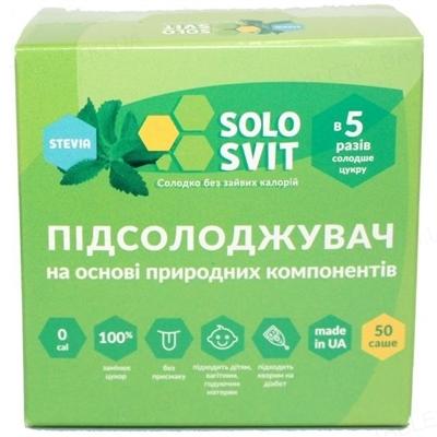 Подсластитель СолоСвит Stevia, 50 саше