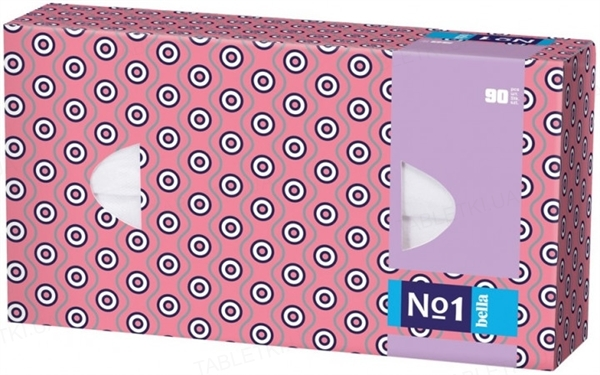 Платки бумажные универсальные Bella №1 трехслойные, 90 штук
