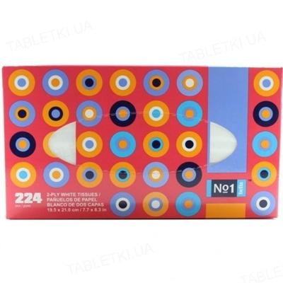 Платки бумажные универсальные Bella №1 двухслойные, 224 штуки