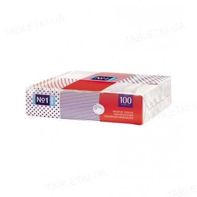 Платки бумажные универсальные Bella №1 четырехслойные, 100 штук