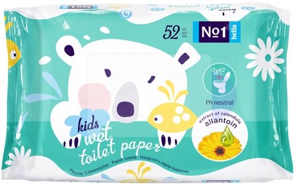 Туалетная бумага влажная Bella №1 Kids, 52 штуки