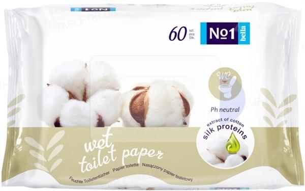 Туалетная бумага влажная Bella №1, 60 штук