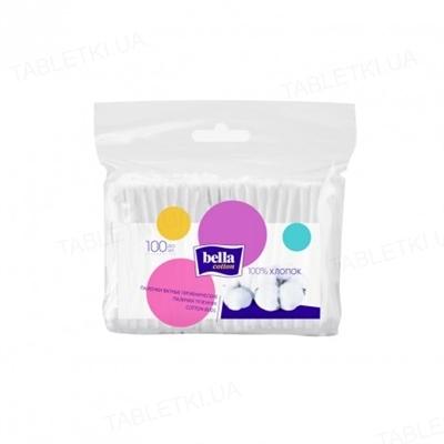 Палочки ватные гигиенические Bella Cotton, полиэтиленовая упаковка, 100 штук