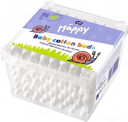 Палочки ватные гигиенические для детей Bella Baby Happy, 56 + 8 штук