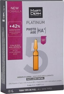 Ампулы MartiDerm Platinum Photo-age HA +, 5 штук по 2 мл