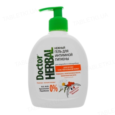 Гель для интимной гигиены Doctor Herbal Ромашка и облепиховое масло, 300 мл
