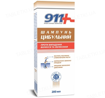 Шампунь 911 Луковый против выпадения волос, 200 мл