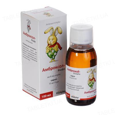 Амброксол-Вишфа сироп 15 мг/5 мл по 100 мл во флак. (бан.)