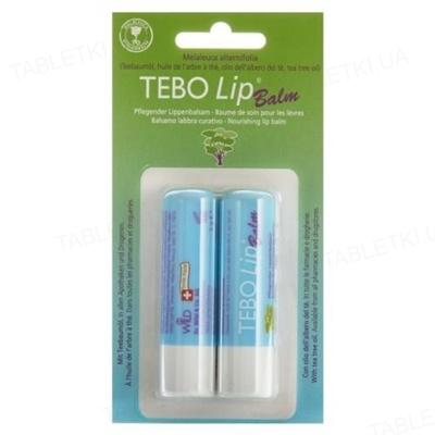 Бальзам для губ Dr. Wild Tebo Lip Balm, 2 штуки